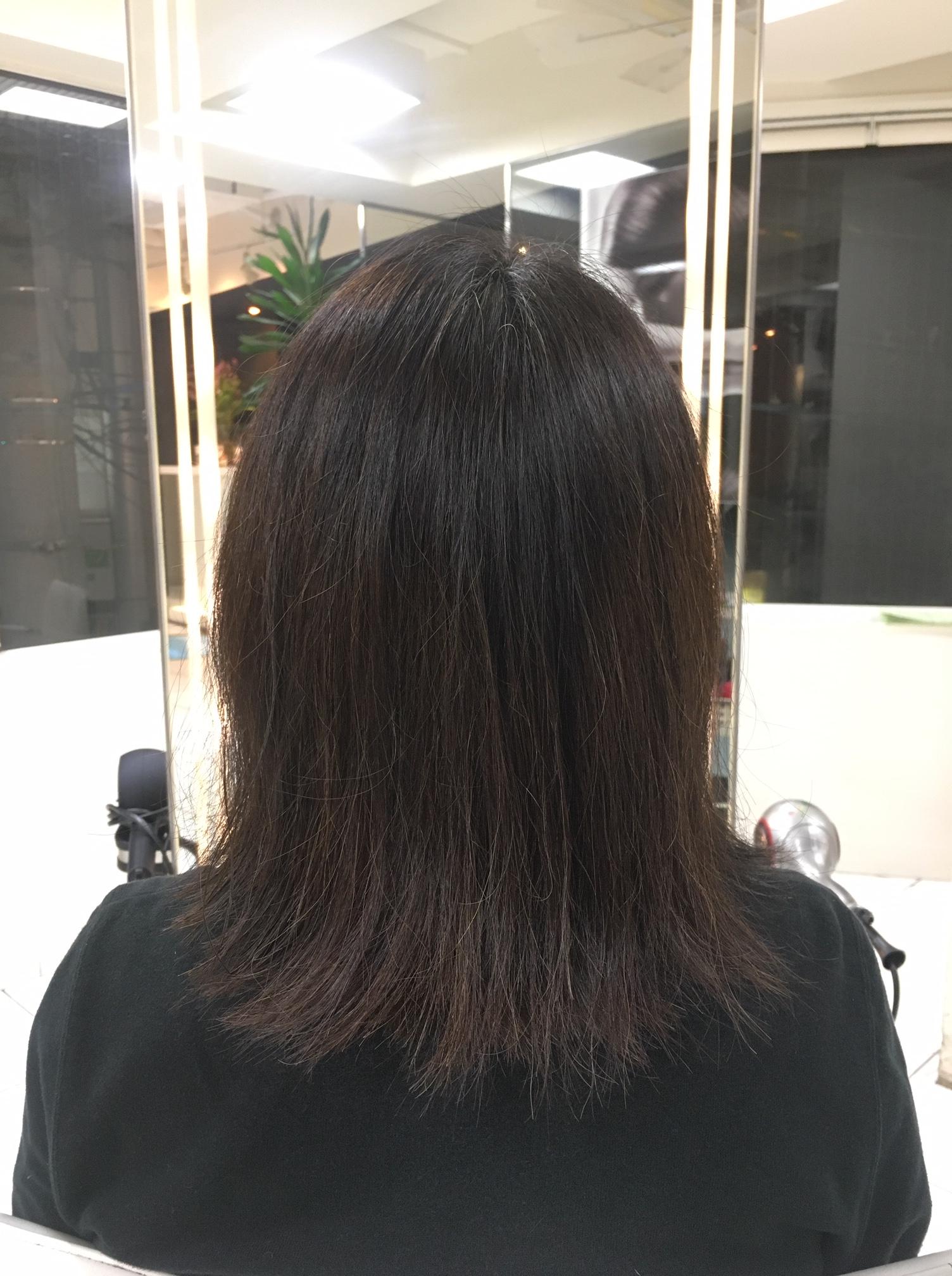 髪質も硬く毛量も多く乾燥しやすい髪質の改善