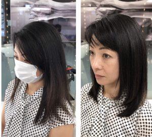 初回髪質改善トリートメント結果
