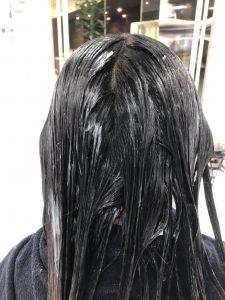 縮毛矯正2剤塗布