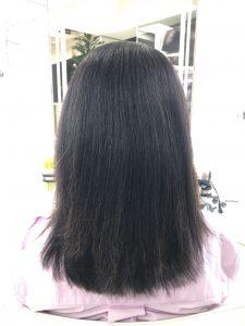 髪質改善1か月後の髪の状態