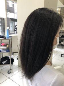 髪質改善3回目施術前サイド
